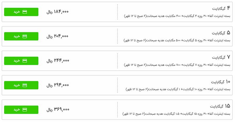 چگونه بسته های اینترنت حذف شده همراه اول و ایرانسل را خریداری کنیم؟