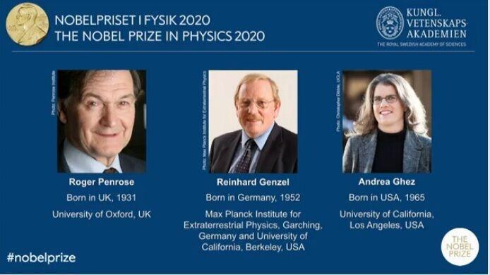 خبرنگاران برندگان جایزه نوبل فیزیک 2020 معرفی شدند