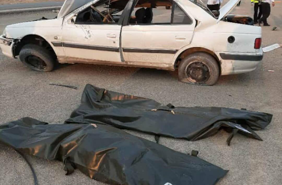 خبرنگاران 2 نفر بر اثر واژگونی خودرو در استان سمنان جان باختند